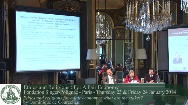 Ethies and religions for a faire economy : what are the stakes? by Dominique de Courcelles