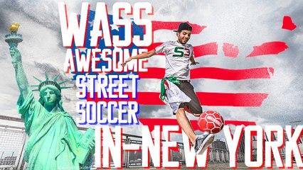 Le Football Freestyler Wass impressione les Américains à New York