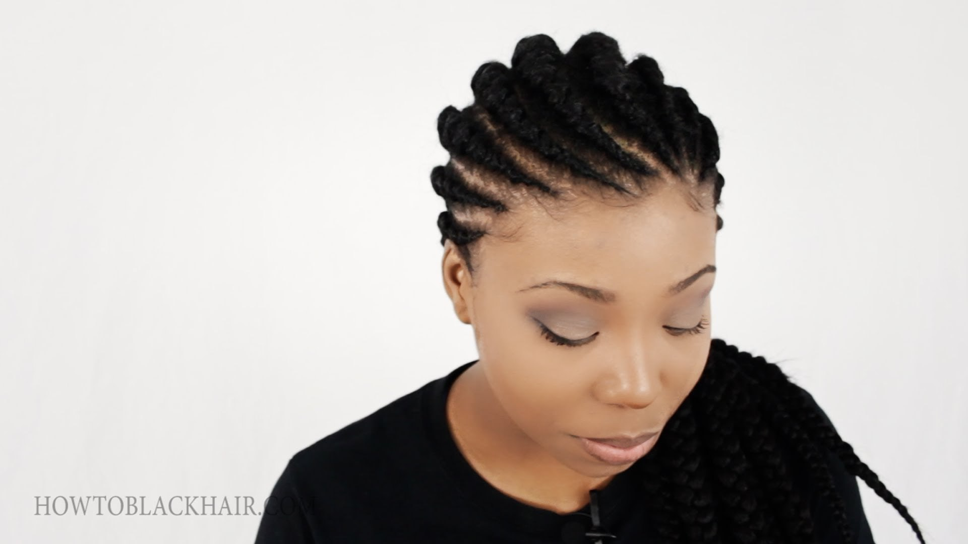 ghana braids / invisible cornrow braids hairstyle tutorial part 1 of 4 – supplies