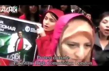 """Chanting Go Nawaz Go – Protest For """"Naya Pakistan"""" In London"""