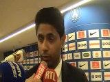 Réaction de Nasser Al Khelaifi en zone mixte après PSG-OL (1-1)