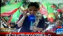Pakistan Tehreek-e-Insaf kay karkun ka josh khrosh Karachi Jalsa main samma news se goftogo
