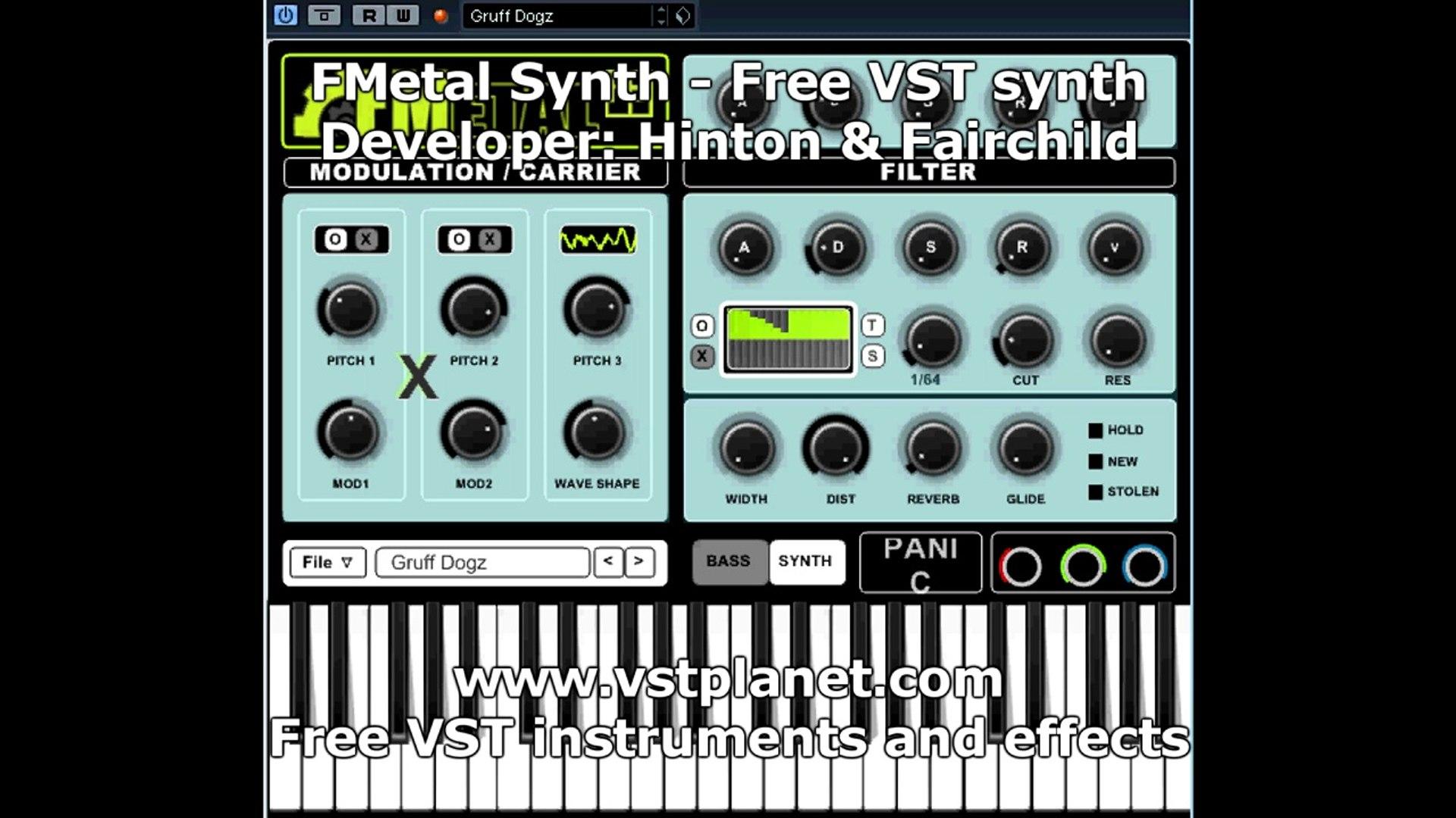Free VST Plug-in - FMetal Synth - vstplanet com