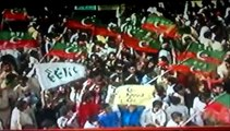 Pakistan Tehreek-e-Insaf  k Jalsa main josh khrosh Karachi  samma news se goftogo 21-9-2014