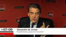 """Alexandre de Juniac : """"Je ne comprends pas les raisons de la grève"""""""