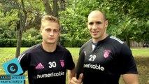 Budget Participatif: Jules Plisson et Sergio Parisse, du Stade Français, ont voté
