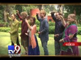 Foreigners match steps with Indians to groove in Navratri, Vadodara - Tv9 Gujarati