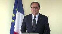 """François Hollande : """"Hervé Gourdel est mort parce qu'il était français"""""""
