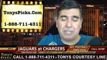 Jacksonville Jaguars vs. San Diego Chargers Free Pick Prediction Pro Football Point Spread Odds Betting Preview 9-28-2014