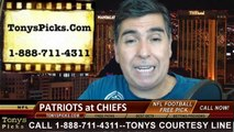 New England Patriots vs. Kansas City Chiefs Free Pick Prediction Pro Football Point Spread Odds Betting Preview 9-29-2014