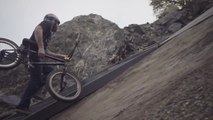 BMX Riders Get Huge Air on Dirt Quarterpipes