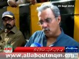 Haider Abbas Rizvi on protest in Karachi against Illegal arresting of MQM workers