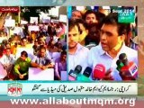 Khalid Maqbool Siddiqui on protest in Karachi against Illegal arresting of MQM workers