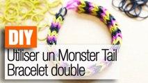 Monster Tail : Un bracelet double Rainbow Loom - Tuto DIY