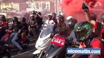 Le départ des supporters de l'OGC Nice pour Monaco