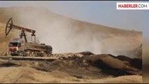 Suriye'de 200 Kuyudan Çıkartılan Petrol Toprağa Akıyor