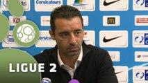 Conférence de presse Tours FC - FC Sochaux-Montbéliard (0-1) : Olivier PANTALONI (TOURS) - Olivier ECHOUAFNI (FCSM) - 2014/2015