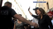 DOCUMENT BFMTV – Valérie Trierweiler évacuée par la police vers Barbès