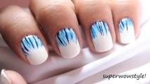 Like a Waterfall Easy Nail Designs & Easy Short Nails Tutorial (Prachi Agarwal Nail Art)