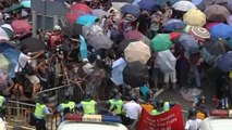 Hong Kong police use pepper spray on demonstrators