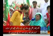 Mother Of Cancer Survivor Almost Cries While Praising Imran Khan & SKMH At PTI Lahore Jalsa Venue