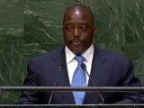 """Le Président Kabila à l' Assemblée Générale de l'ONU : """" La RD Congo est à nouveau debout"""""""