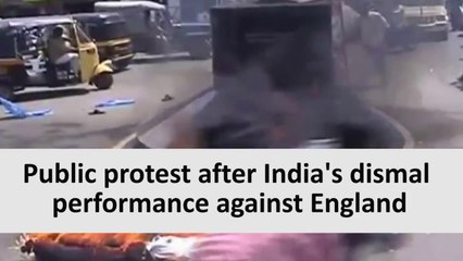 Public Protest After India's Dismal performance against Eng