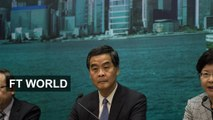 CY Leung appeals for calm in Hong Kong