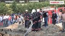Ekümraniye'de İSKİ'nin Atıksu Kanal Çalışması Sırasında 1 İşçi Göçük Altında Kaldı