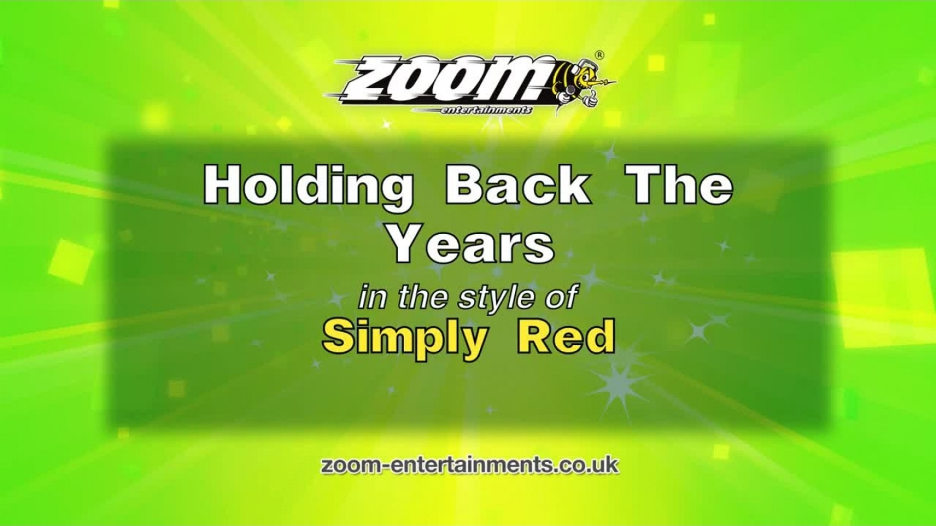 Zoom Karaoke - Holding Back The Years - Simply Red