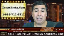 Auburn Tigers vs. LSU Tigers Free Pick Prediction College Football Point Spread Odds Betting Preview 10-4-2014