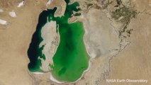 NASA Earth Observatory Captures Lake Disappearing Over 14 Years