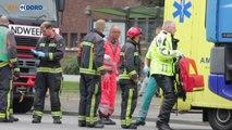 Beelden: Ongeval met fietser en vrachtwagen op Damsterdiep in Groningen - RTV Noord