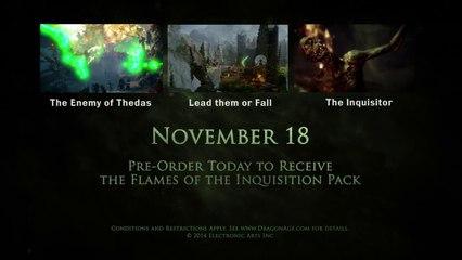 Création des personnages de Dragon Age : Inquisition