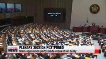 Plenary session postponed