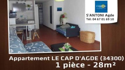 A vendre - appartement - LE CAP D'AGDE (34300) - 1 pièce - 28m²