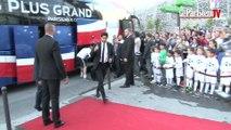 PSG-Barça : l'arrivée des Parisiens au Parc