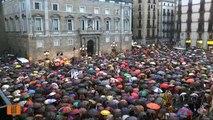 Milers de manifestants a la concentració de la plaça Sant Jaume