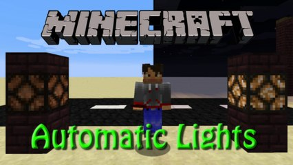 Minecraft: Automatic Lamps System with Daylight Sensor Tutorial