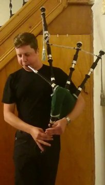 Mr. Gregory Playing Mikel Bagpipe (auld adam)