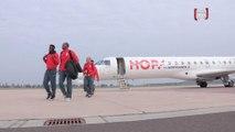 L'arrivée des Lillois à Wolfsbourg