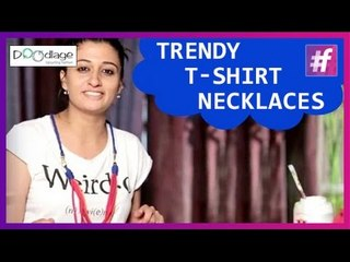 Simple DIY   How To Make Trendy T-Shirt Necklace