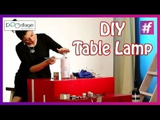 DIY : How To Make Table Lamp From Glass Bottle