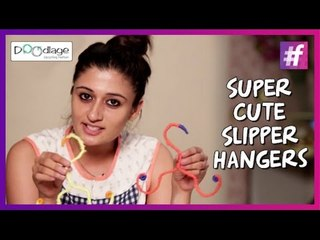 Easy DIY Tutorial   Super Cute Slipper Hangers