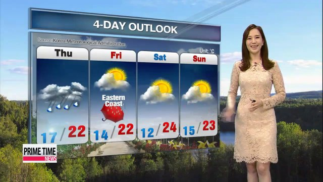 Autumn showers forecast for most regions, Thursday