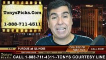 Illinois Fighting Illini vs. Purdue Boilermakers Free Pick Prediction College Football Point Spread Odds Betting Preview 10-4-2014
