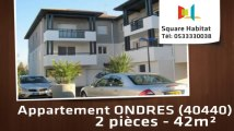A louer - Appartement - ONDRES (40440) - 2 pièces - 42m²
