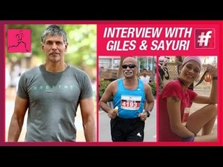 Interview with Giles and Sayuri with Milind Soman