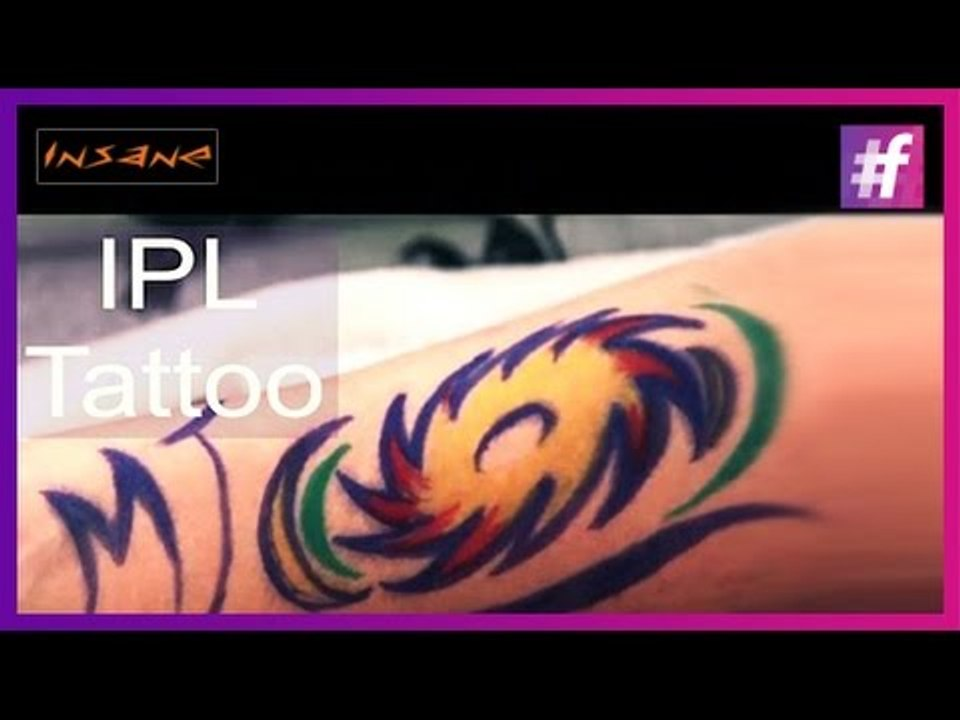 Indian Premier League (IPL) Special Tattoo | Cricket Inspired Tattoos