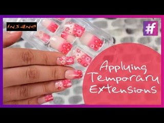 Application of Temporary Extensions on Nails | How To Use Fake Nails